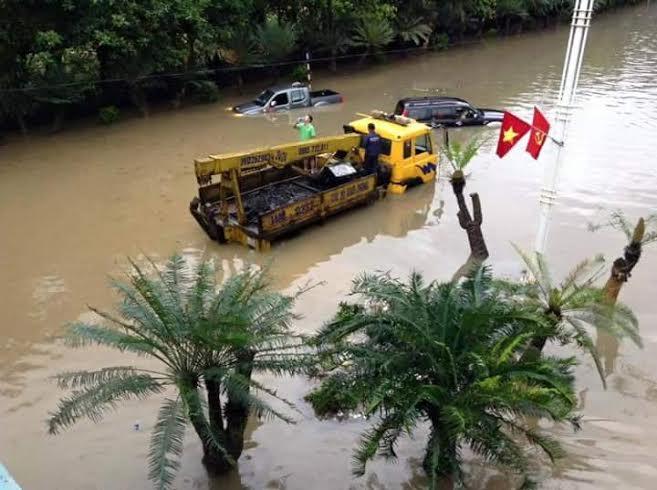 ngập lụt ở quảng ninh