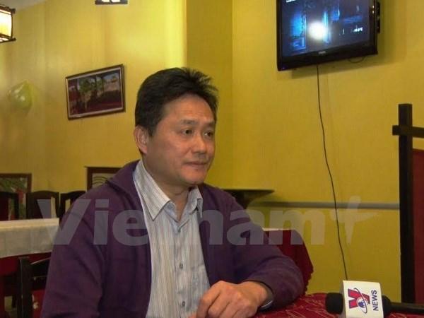 Ông Lê Đinh Vũ, Phó chủ tịch Hội người Việt thành phố St. Petersburg đánh giá cao tầm quan trọng của Đại hội Đảng toàn quốc lần thứ XII