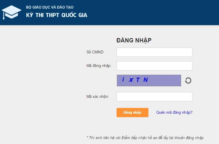 Website công bố điểm thi quốc gia 2015 chính thức của Bộ GD-ĐT