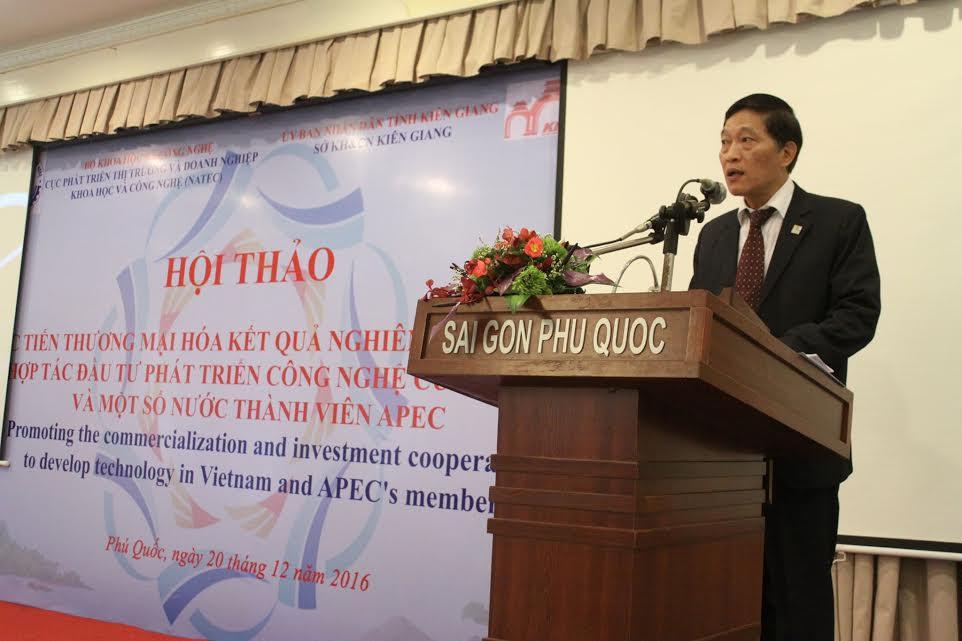 Thứ trưởng Bộ KH&CN Trần Văn Tùng phát biểu tại Hội thảo
