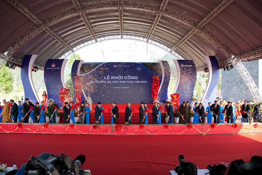Thủ tướng Nguyễn Xuân Phúc vừa phát lệnh khởi công dự án Khu du lịch sinh thái Tam Đảo do Tập đoàn Sun Group thực hiện.