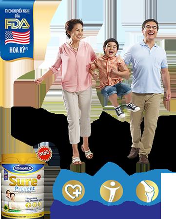 Vinamilk Sure Prevent là giải pháp dinh dưỡng bổ sung đầy đủ các vitamin và khoáng chất,