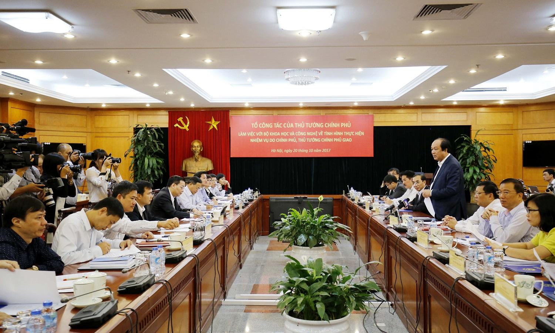 Tổ công tác của Thủ tướng Chính phủ đánh giá cao công tác cải cách hành chính tại Bộ KH&CN.