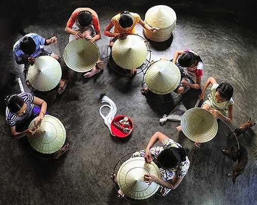 Nón lá làng Chuồng - sản phẩm truyền thống đặc trưng nổi tiếng