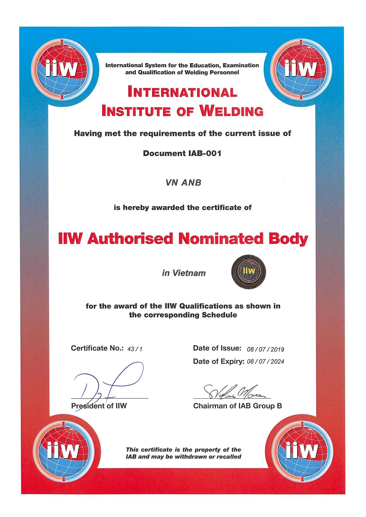 Ủy quyền chứng nhận nhân sự hàn quốc tế tại Việt Nam