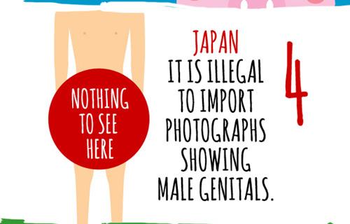 """Ở Nhật có điều luật cấm không được công bố những bức ảnh để lộ """"của quý"""" của quý ông"""