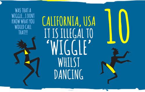 Khi nhảy hay khiêu vũ ở California, Mỹ, tuyệt đối không được phép lắc lư
