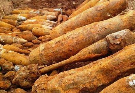 Hầm đạn lớn có nguy cơ phát nổ khi được tìm thấy ở Quảng Trị năm  2014