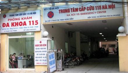 Trung tâm cấp cứu 115 kê khống hồ sơ, có dấu hiệu hoạt động chui bị phanh phui 2014