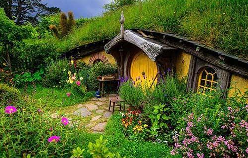 Ngôi nhà ở New Zealand này cực kỳ giống với ngôi nhà của người Hobbit trong bộ phim Chúa tể của những chiếc nhẫn.