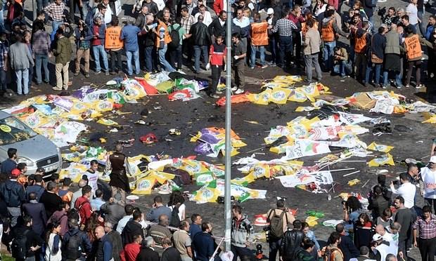 Hiện trường sau vụ nổ bom ở Thổ Nhĩ Kỳ