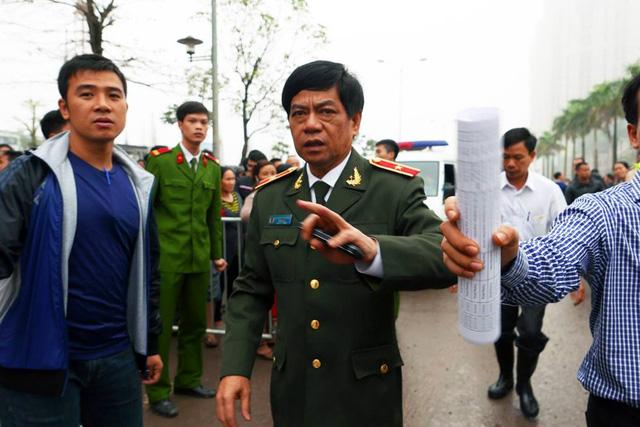 Giám đốc Công an Hà Nội có mặt tại hiện trường chỉ đạo điều tra vụ việc.