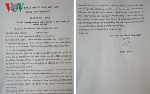 Bản tường trình gửi TAND tỉnh Bình Thuận của 'người tù hai thế kỷ' Huỳnh Văn Nén