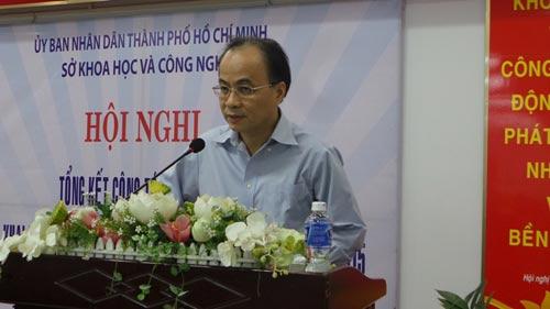 Ông Lê Mạnh Hà, Phó chủ tịch UBND TP.HCM phát biểu tại buổi lễ tổng kết hoạt động Sở Khoa học và Công nghệ năm 2014