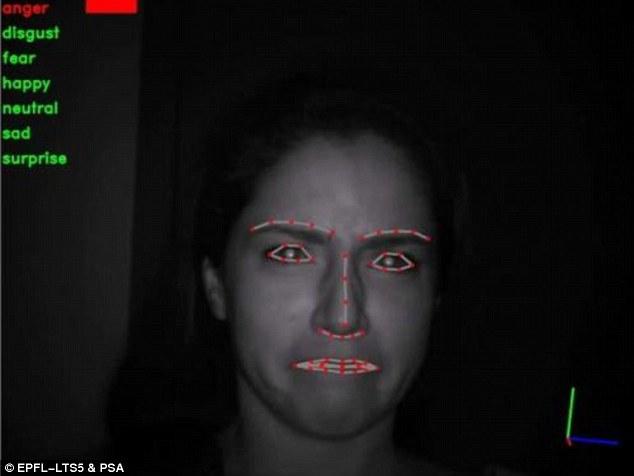 Công nghệ nhận diện khuôn mặt cho phép xe hơi