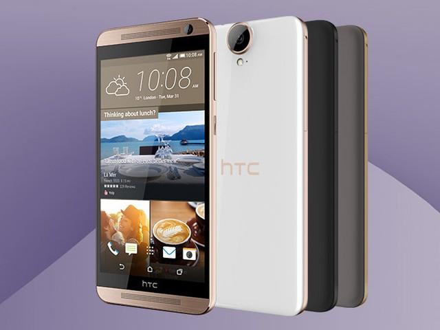 HTC One E9 Plus có thiết kế kết hợp giữa kim loại và vỏ nhựa
