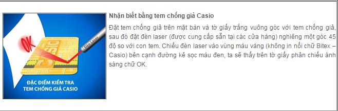 Phân biệt máy tính Casio thật và giả