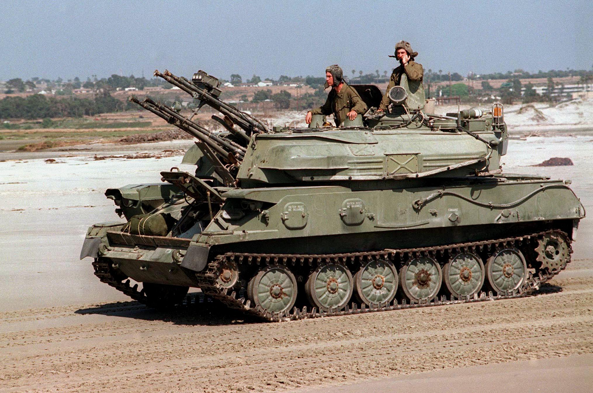 Pháo phòng không ZSU-23-4 được đánh giá là có sức mạnh hỏa lực mạnh mẽ để tiêu diệt bộ binh