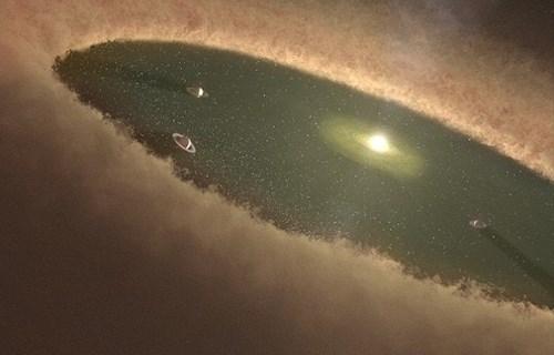 Hình minh họa giai đoạn các hành tinh mới hình thành trong hệ mặt trời. Ảnh chụp màn hình NASA
