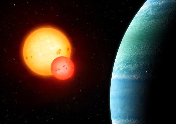 Kepler-453b là phát hiện mới nhất về hành tinh circumbinary của các nhà khoa học. Ảnh Sci-news
