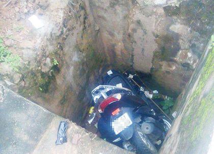 Người dân phát hiện thi thể đại úy công an trong tình trạng bị xe máy đè lên người