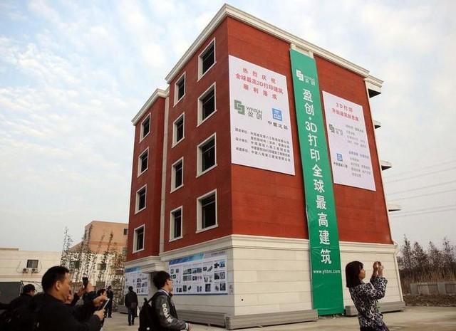 Tòa nhà 5 tầng đồ sộ được xây dựng bằng công nghệ in 3D