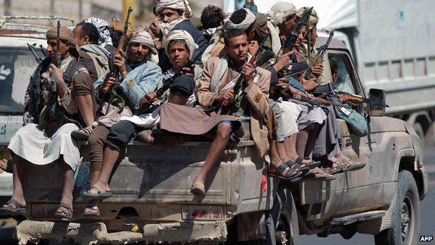 Lực lượng phiến quân Houthi tại Yemen đang hứng chịu những trận không kích của liên quân