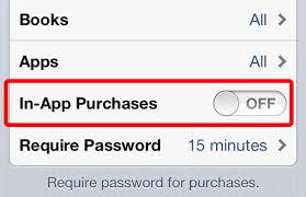 Hãy tắt tính năng In-app Purchases