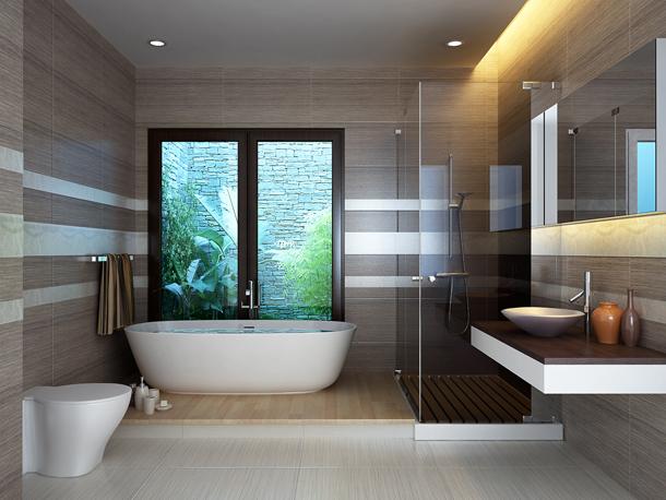 Theo phong thủy nhà ở, phòng tắm nên được bố trí theo hướng 'tọa hung hướng cát'