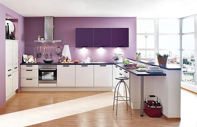 Màu tím trong phòng bếp giúp con người sôi nổi, tự tin