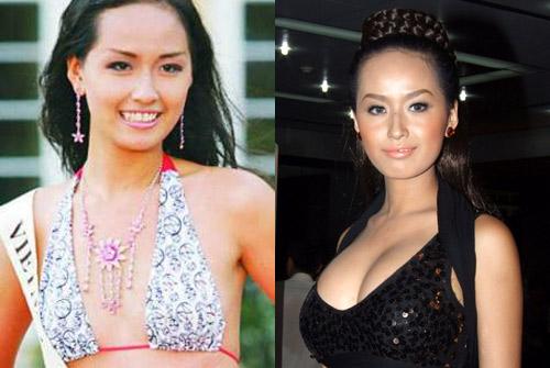 Soi lại hình ảnh khiến Hoa hậu Mai Phương Thúy bị đồn bơm ngực quá đà
