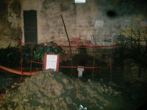 Hiện trường nơi phát hiện quả bom