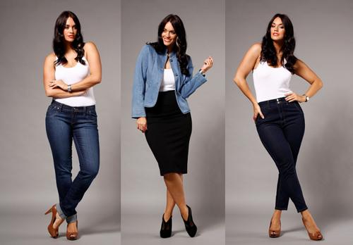 Quần jean cạp cao kết hợp với giày cao gót là sự lựa chọn thông minh với các cô nàng mũm mĩm