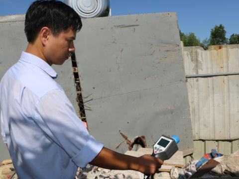 Thiết bị phóng xạ cất trong két sắt ở Phú Yên vẫn an toàn