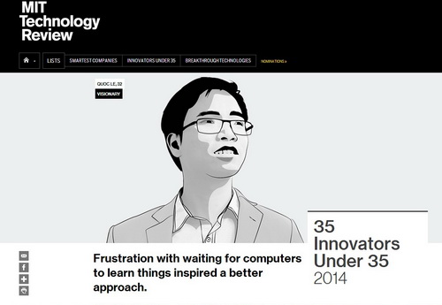 nhà khoa học trẻ, nhà sáng tạo, Tạp chí công nghệ MIT, Lê Viết Quốc