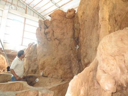 đây là bộ rễ của một trong số hai cây bàng đá tại miếu Phụng Tường