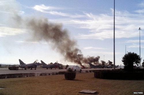Vụ rơi máy bay quân sự Thái Lan này đã khiến phi công thiệt mạng