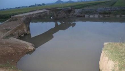 Hiện trường nơi xảy ra vụ tai nạn đuối nước thương tâm khiến một em học sinh lớp 4 thiệt mạng ở Nghệ An