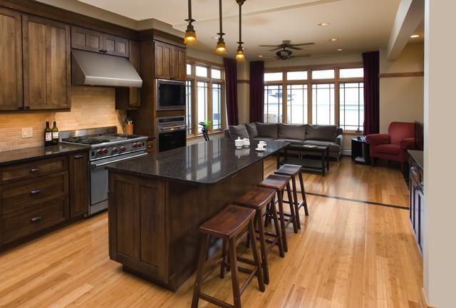 Chọn sàn gỗ cho phòng bếp