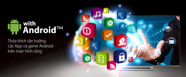 Tivi được yêu thích nhất năm 2014 của Toshiba được tích hợp hệ điều hành Android