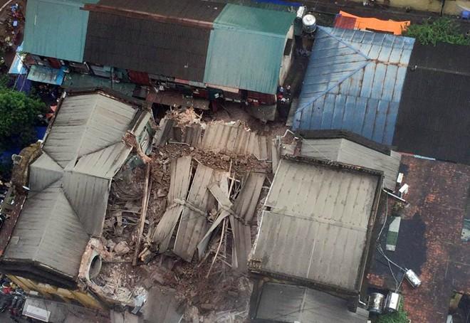 Hiện trường vụ sập nhà ở Hà Nội xảy ra vào trưa 22/9
