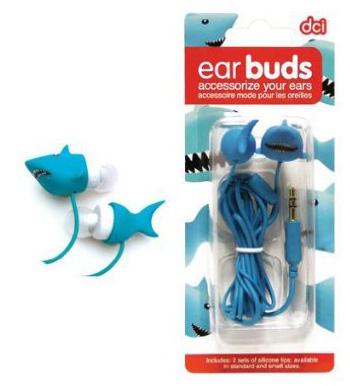 Tai nghe cá mập: Hãy thử nghe nhạc với những chiếc tai nghe sắc màu này, sẽ tuyệt vời lắm đấy. Mỗi tai nghe được bán với giá $11 trên trang amazon.com.