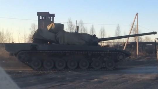 Hình ảnh bị rò rỉ của siêu tăng Nga T14 Armata