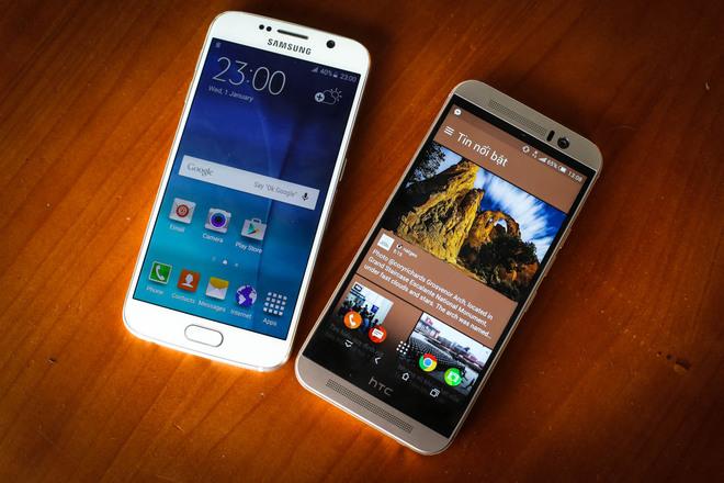 Smartphone hot nhất của Samsung là Galaxy S6 có mức giá tương đương với One M9