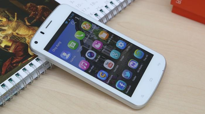 Smartphone giá rẻ Pioneer P3 có thiết kế với hình dáng bo tròn 4 góc