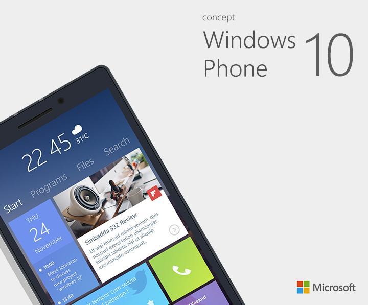 Window Phone 10 sớm sẽ được tích hợp trong mẫu smartphone này