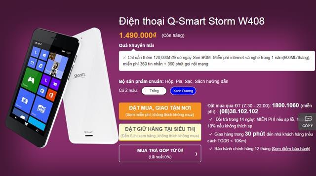 Q-smart Storm gây ấn tượng với người dùng bởi thiết kế trẻ trung, năng động