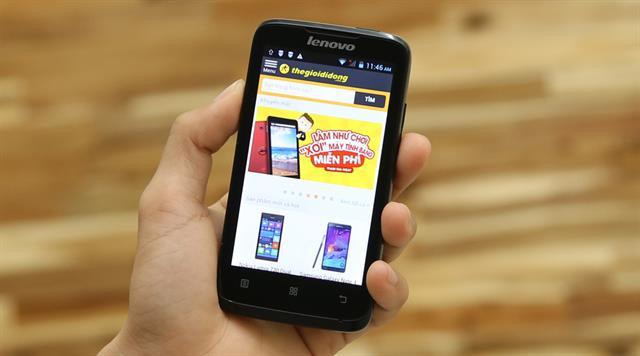 Lenovo A316i là smartphone giá rẻ kết nối 2 SIM 2 sóng cùng dung lượng pin khá ổn