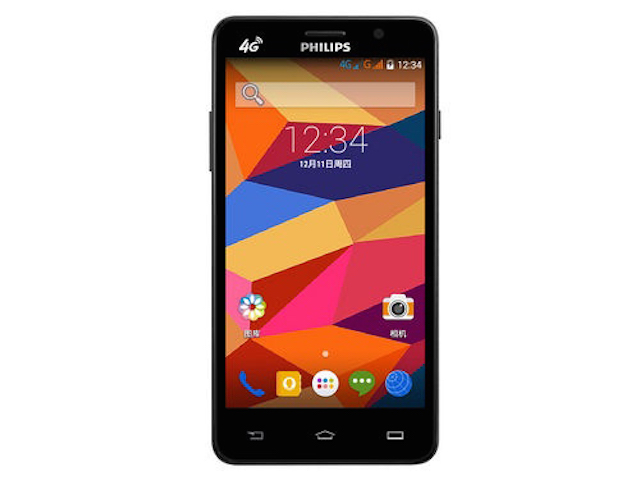 Mặt trước của một chiếc smartphone Philip S316