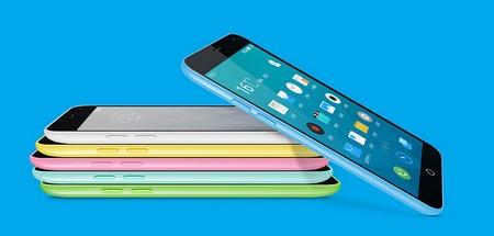 Meizu M1 là smartphone giá rẻ với thiết kế màu sắc tương đồng với Iphone 5C